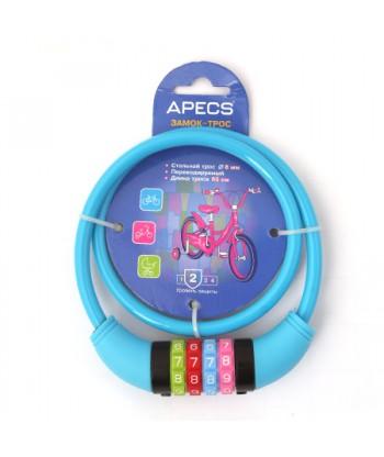 Замок велосипедный Apecs PD-82-65 CM CODE-BLUE