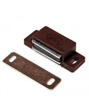 Защелка магнитная №4 (белая/коричневая) НОРА-М 42 mm