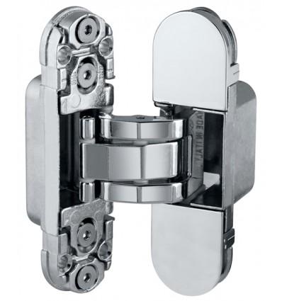 Петля скрытая AGB (АГБ) никель ECLIPSE 2.0 (4 накладки в комплекте)