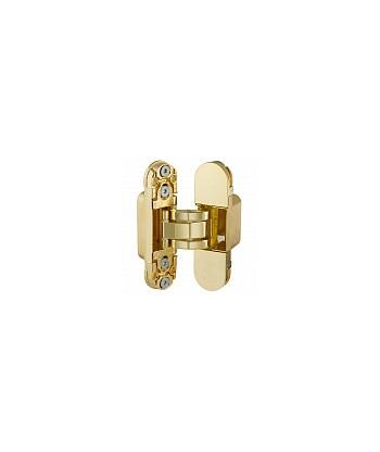 Петля скрытая AGB (АГБ) латунь золото ECLIPSE 2.0 (4 накладки в комплекте)