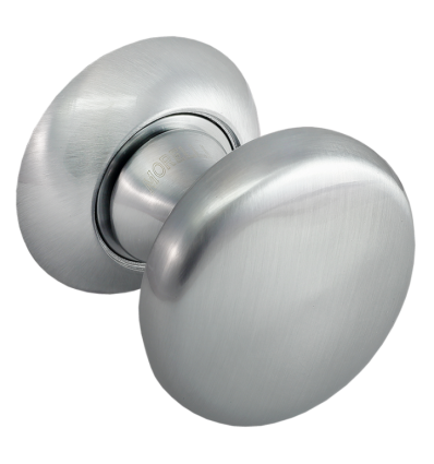 Поворотные круглые дверная ручка MHR-1 AB Матовый хром