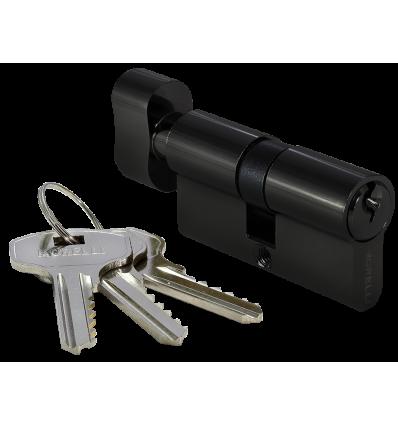 60CK BL, ключевой цилиндр с заверткой (60мм), цвет - черный